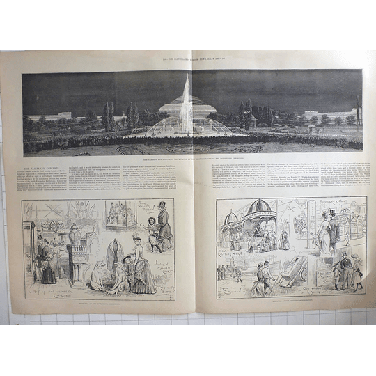 1885 Sketches At The Inventions Exhibition, Fairyland Concerts South Kensington