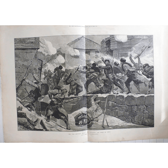 1885 War Between Serbia And Bulgaria, Fighting At Pirot, Caton Woodville