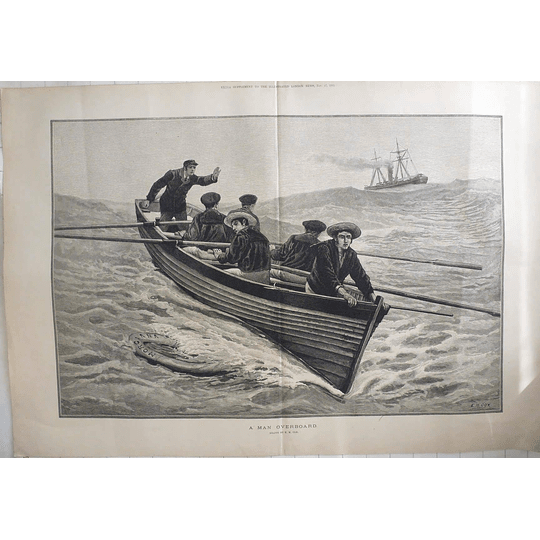 1883 Man Overboard From The Morgiana Drawn By Em Cox