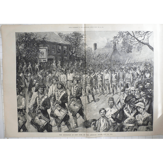 1883 The Occupation Of New York By American Troops 1783