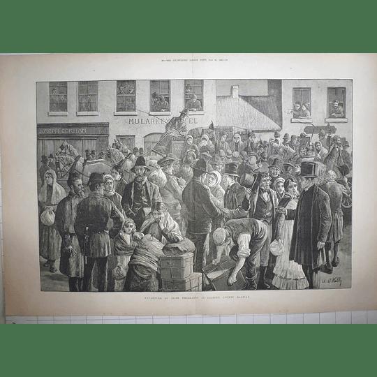 1883  Irish Emigrants Depart Clifton Co Galway, Joseph Gorham Mularkey Hotel