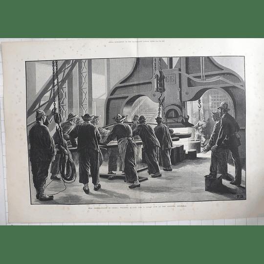 1883 War Preparations In China Welding Coil For Great Gun Shanghai Arsenal