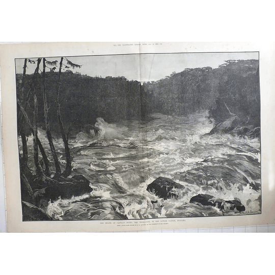 1883 The Death Of Capt Webb, Whirlpool In The Lower Rapids Niagara