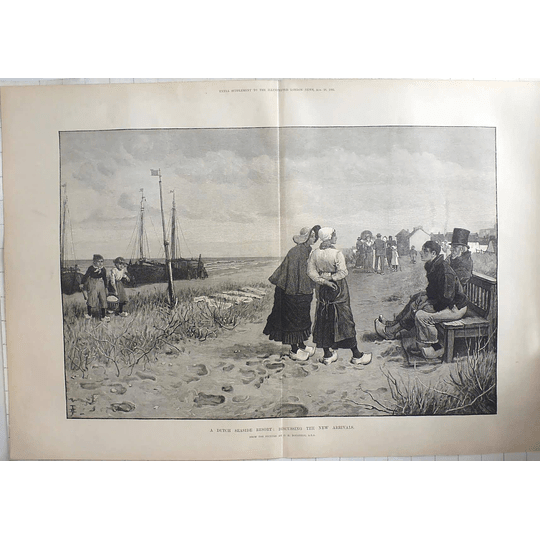 1883 New Arrivals At Dutch Seaside Resort, Picture By Gs Boughton