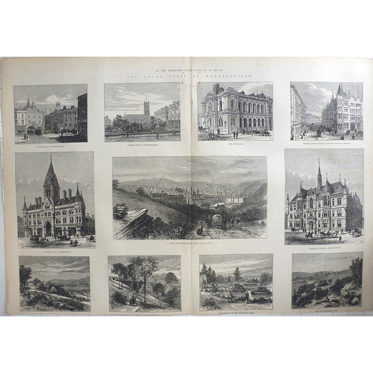 1883 Royal Visit To Huddersfield, Technical School, Marketplace