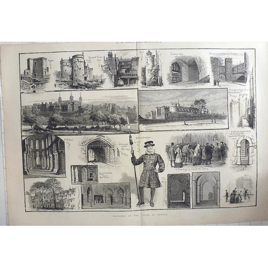 1883 Sketches Of The Tower Of London