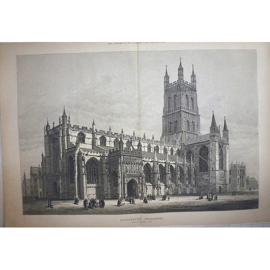 1883 Gloucester Cathedral Drawn By The Late S Read