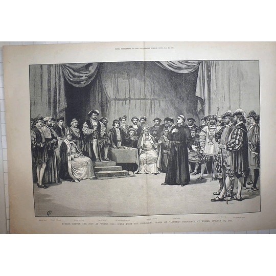 1883 Luther Before The Diet Of Worms Historical Drama