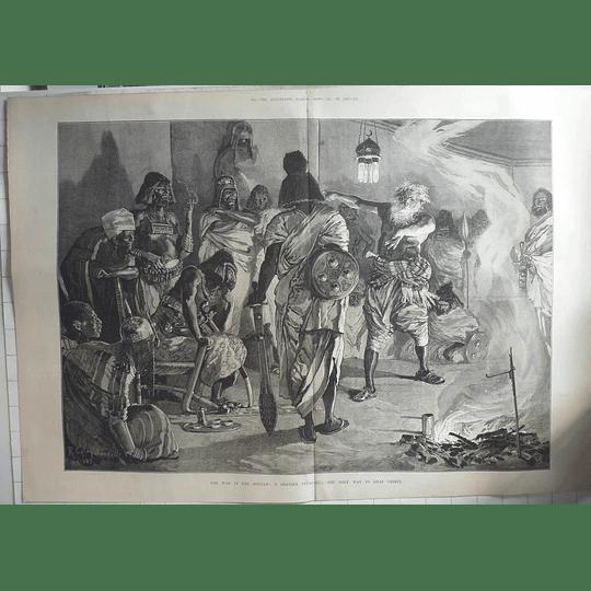 1883 War In The Sudan, Dervish Preaching Holy War To Arab Chiefs