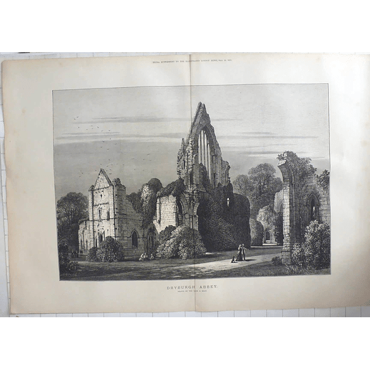 1883 Dryburgh Abbey Drawn By The Late S Read