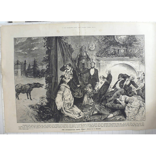 1883 The Interrupted Ghost Story Drawn By F Barnard