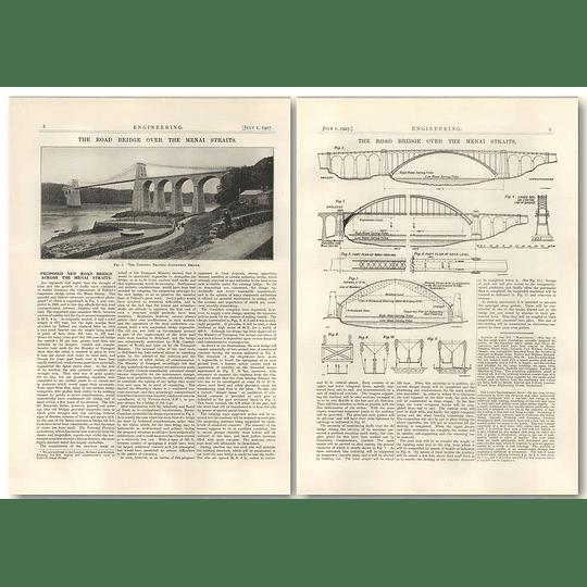 1927 Proposed New Road Bridge Across The Menai Straits