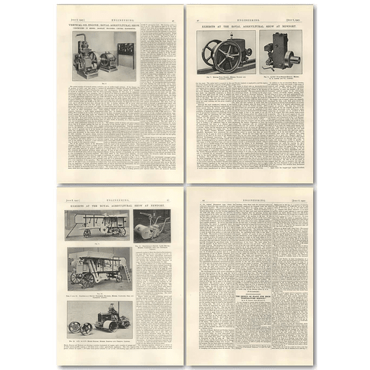 1927 Exhibits At Agricultural Show, Newport, Electric Threshing Machine, Roller