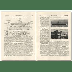 1927 Isle Of Wight Ferryboat Southern Railway Company, Denny, Dumbarton