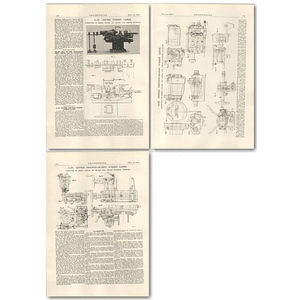 1927  6 1/2 Inch Centre Friction Geared Turret Lathe, Pollock Macnab Stockport
