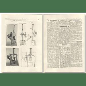 1927 Ink And Colour Mixing Machines, Joseph Foster Preston