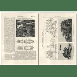 1927 Roller Straightening Machines, Demag, Duisburg
