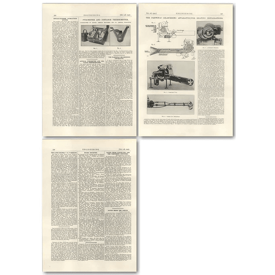 1927 Parwinac Oil-burning Apparatus, Col Thomas Yabbicom Obituary