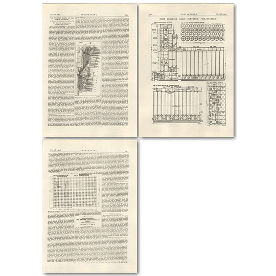 1927 The Port Of Philadelphia Port Richmond Grain Elevator