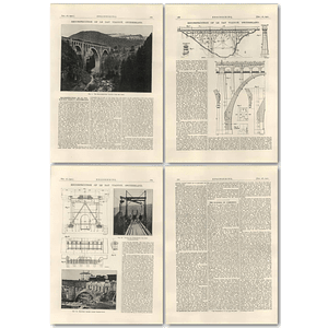 1927 Reconstruction Of Le Day Viaduct, Switzerland