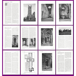 1912 A Study Of Ely Cathedral By Desmond Parsons