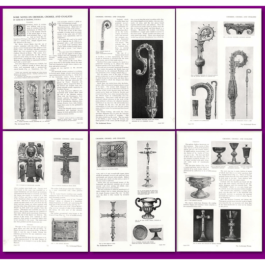 1912 Some Notes On Crosiers, Crosses And Chalices, Edmund Sedding