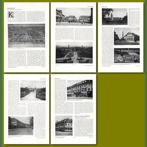 1911 Planning Of Karlsruhe, By Raymond Unwin