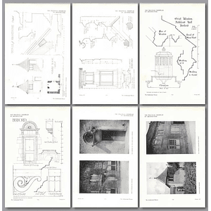 1911 Details And Plans Of The Summerhouse At Burford