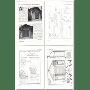 1911 The Alcove In Kensington Gardens, Sir Christopher Wren, Design, Plans