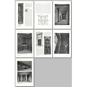 1911 The Institution Of Electrical Engineers, Design, Plans
