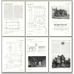 1911 The Market Hall At Chipping Campden, Design, Plan