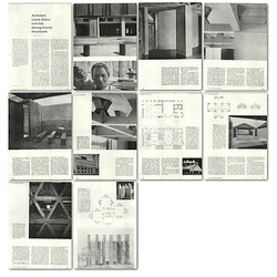 1957 Architect Louis Kahn And His Strong Boned Structures