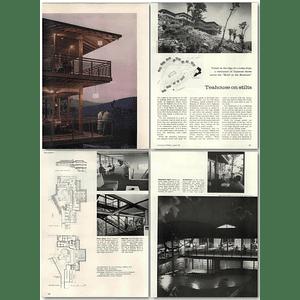 1957 Teahouse On Stilts, Mountain Restaurant, Suffern Exit New York Thruway