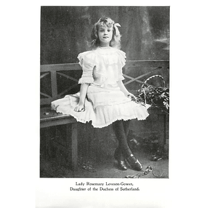 1902 Little Rosemary Leveson Gower Daughter Of The Duchess Of Sutherland