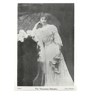 1902 The Viscountess Helmsley, Photo Portrait