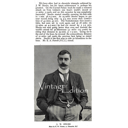 1897 Crystal Palace hour World-Record Jw Stocks