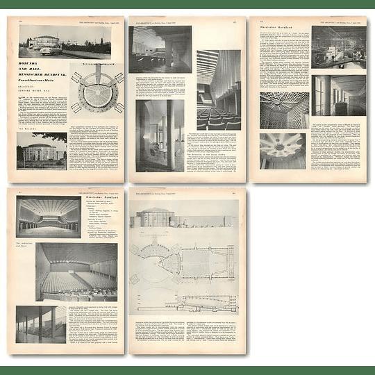 1955 Rotunda And Hall, Hessischer Rundfunk, Frankfurt On Main