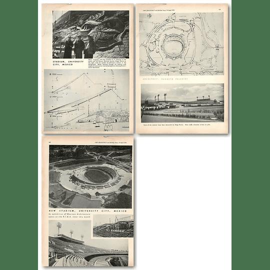 1955 New Stadium, University City, Mexico Diego Rivera Decoration