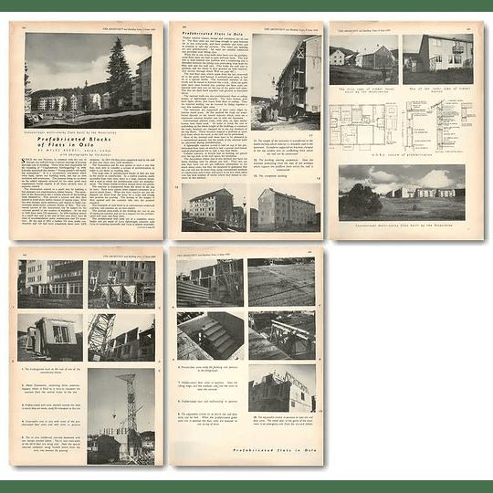1955 Prefabricated Blocks Of Flats In Oslo