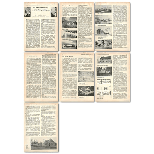 1955 The Architect's Responsibility To The Building Industry, Sir Thomas Bennett