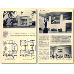 1940 Art Museum, Rosario, Argentina Design, Plans