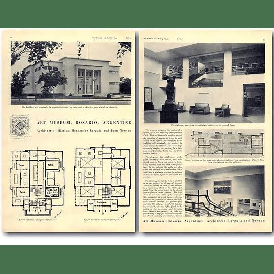 1940 Art Museum, Rosario, Argentina Design, Plans