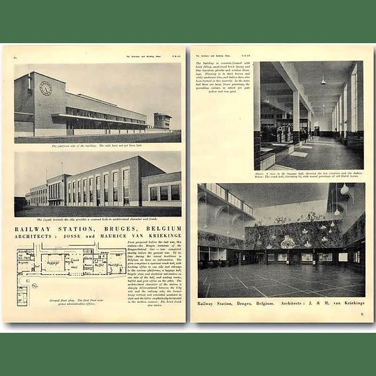 1940 Railway Station, Bruges Belgium