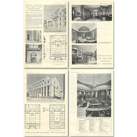 1940 Public Library And Town Hall Extensions, St Marylebone