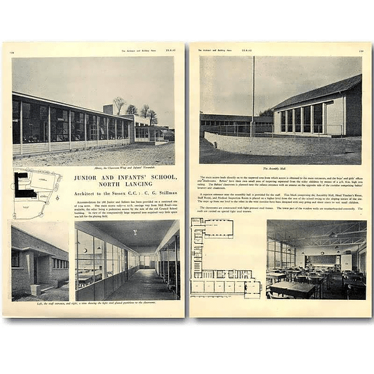 1940 Junior And Infants School, North Lancing Design, Plans