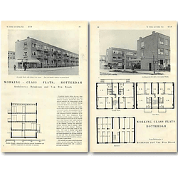 1940 Working Class Flats In Rotterdam, Brinkman Van Den Brock