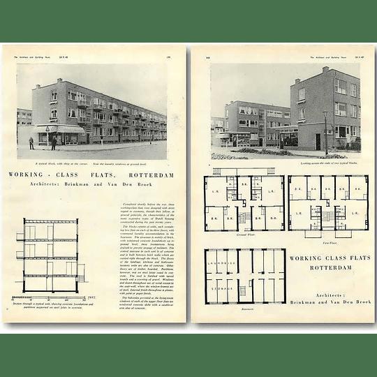 1940 Working Class Flats In Rotterdam, Brinkman Van Den Brock