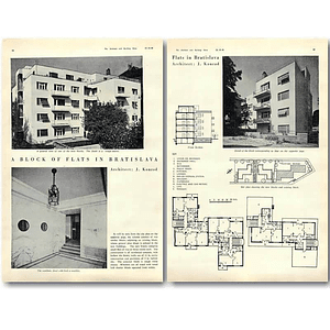 1940 Block Of Flats In Bratislava, J Konrad Design, Plans