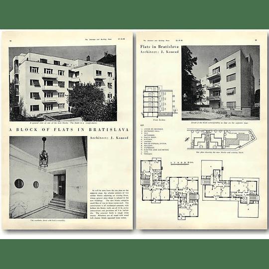 1940 Block Of Flats In Bratislava, J Konrad Design, Plans