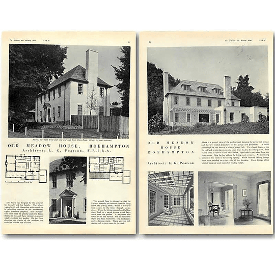 1940 Old Meadow House, Roehampton, Lg Pearson